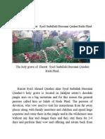 Biography of Hazrat Syed Sadullah Hussain Quaderi Bada Phad