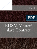 Bdsm Masterslave Contract 10pct Sample