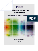English Turkish Grammar Functional and Transformational Book