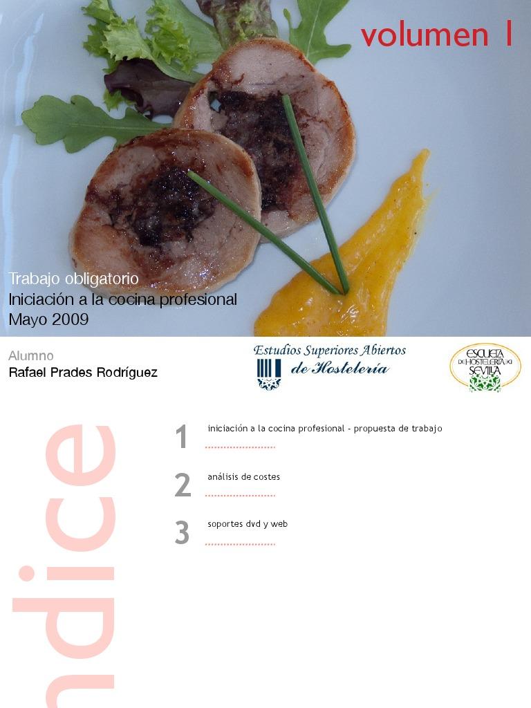 Iniciaci n cocina profesional vol i for Material de cocina profesional