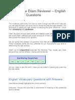 Civil Service Exam Reviewer - Grammar