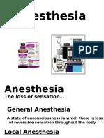 Anasthetic s