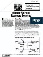 Exhaust Air Heat - Recovery Systems
