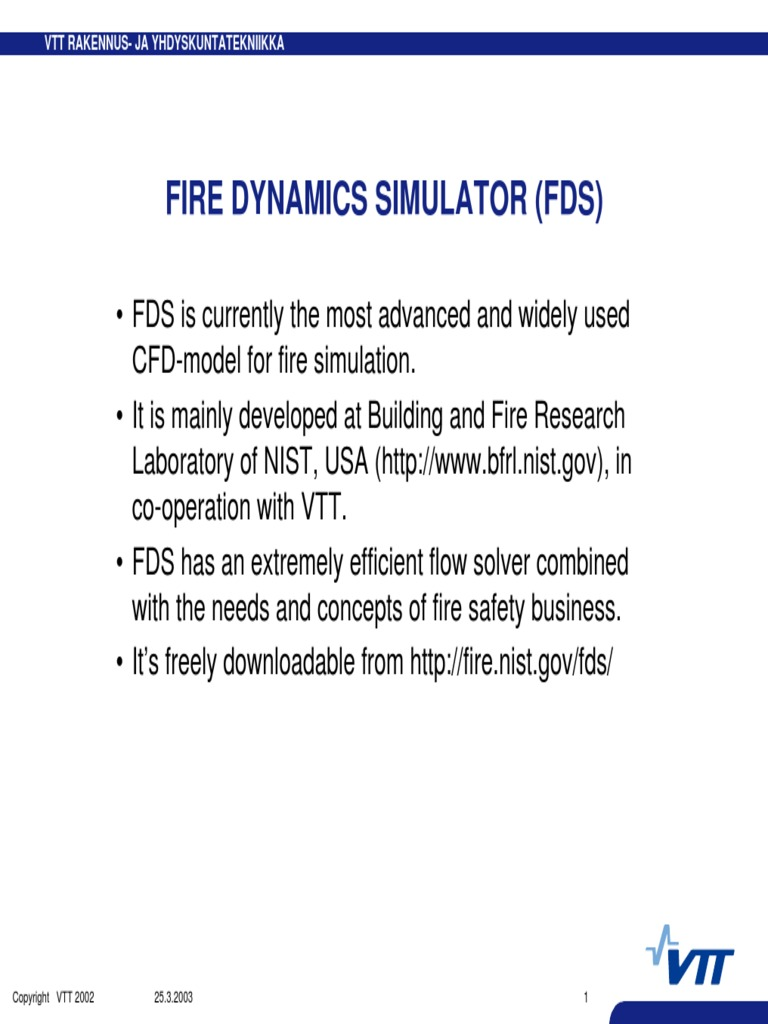 FDS Examples | Simulation | Chemical Engineering
