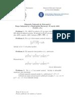 2016 Matematica Judeteana Clasa a Ixa Subiectebarem