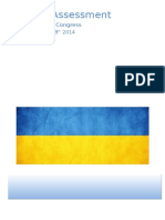 Medical Assessment - Ukrainian World Congress. July 28th - August 8th, 2014