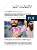 Demonetization -Why It is Not About Black Money and Why the Government Had to Do It