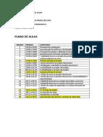 Plano de Ensino - Aulas - Projeto Integr