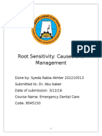 Root Sensitivity