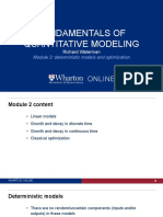 Module 2 Deterministic Model