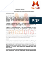 Comunicado Medula PAA