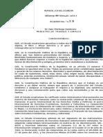 Acuerdo Ministerial 398 VIH SIDA
