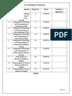 Process Modeling & Simulation File