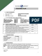 DHR5018_Teaching Plan for MMLS