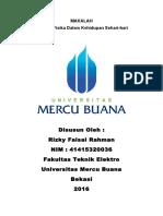 Makalah Aplikasi Fisika Dalam Kehidupan Sehari-hari Rizky Faisal Rahman 41415320036