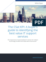 The CSat KPI A buyer's guide to identifying the best value IT support services