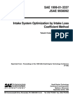 1999-01-3337 - Intake System Optimization by Intake Loss Coefficient Method