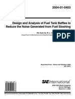 2004-01-0403 - Design and Analysis of Fuel Tank Baffles to Reduce the Noise Generated From Fuel Sloshing