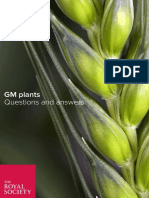 The Royal Society - Genetically Modified Plants - Questions and Answers