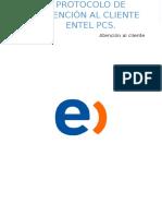 Protocolo de Atención Al Cliente Entel Pcs