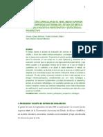 LA EVALUACION CURRICULAR Y LA ACREDITACION  DE PROGRAMAS EDUCATIVOS, DESPLAZAMIENTO  Y DESARROLLO