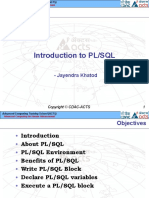 01_ Introduction to PL SQL