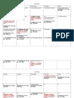 Revised Second Quarter Calendar