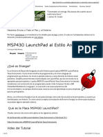 MSP430 LaunchPad Al Estilo Arduino