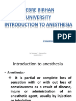 CHAPTER 1-Intro Duction of Anesthesia