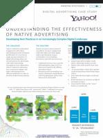 Case Study Understanding the Effectiveness of Native Advertising