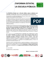 Nota Prensa PEEP Sobre Reválidas y Pacto Educativo-1