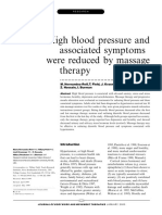 7.RESEARCH -High Blood Pressure and Associated Symptoms Were Reduced by Massage Therapy