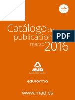 Lista Libros Publicados Editorial Mad