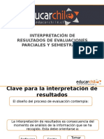 Interpretación de Resultados de Evaluaciones Parciales y Semestrales