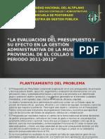 La Evaluacion Del Presupuesto y Su Efecto 08.10.16