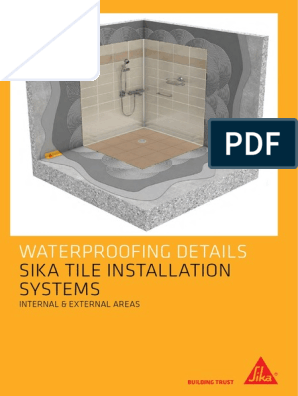 Sika Tile Installation Systems Waterproofing Details Booklet