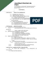 Estudio de Pre Inversion a Nivel Perfil Ticapampa Pavimentado