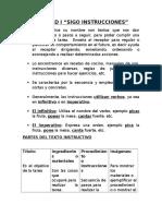 Guía Clases Unidad i Textos Instructivos