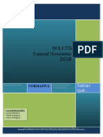Boletin Especial TAT Consultores Noviembre 2016
