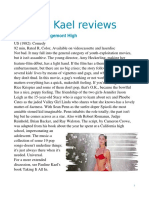 Kael Reviews
