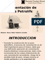 Cementación de Pozos Petrolíferos Power Point