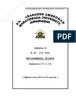 B.sc. III Yr. Environmental Science Sem. v & VI Syllabus 2011 12 & Onwards