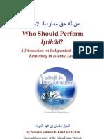 Who Should Perform Ijtihad