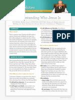 Understanding Who Jesus Is