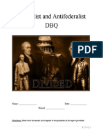 federalist and antifederalist dbq packet