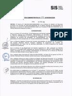 Resolución Administrativa N° 773-2016-SIS/OGAR