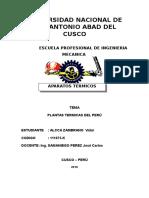 Centrales Termicas en Peru