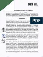 Resolución Administrativa N° 769-2016-SIS/OGAR