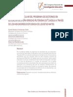 EVALUACIÓN CURRICULAR DEL PROGRAMA DE DOCTORADO EN EDUCACIÓN DE LA UNIVERSIDAD AUTÓNOMA DE TLAXCALA A TRAVÉS DE LOS INDICADORES DE EFICIENCIA DE LOS ESTUDIANTES