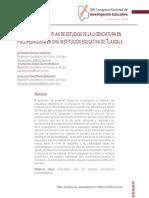 La evaluación del plan de estudios de la licenciatura en psicopedagogía en una institución educativa de tlaxcala